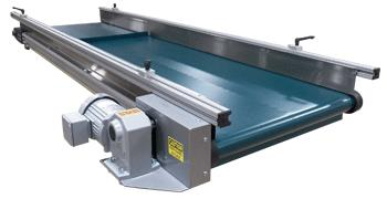 Small Frame Aluminum Conveyor with Green Belt