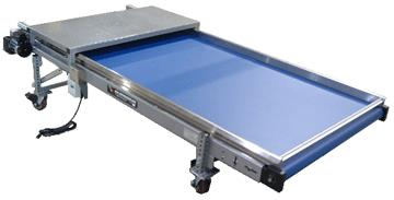Large Frame Conveyor with Blue Belt