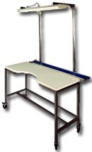 Inspection Table with Flat Top Low Profile Alumninum Conveyor